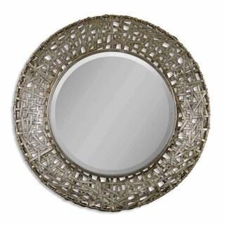 Uttermost 'Alita' Champagne Woven Metal Mirror