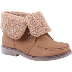 Women's Reneeze Alice-05 Camel Boots with Folded-Down Collar
