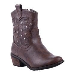 Women's Reneeze Bette-01 Brown with Marbled Design