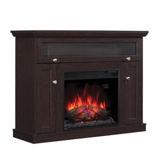 Windsor 23-inch Classic Flame Indoor Electric Fireplace Dual Media Mantel