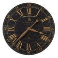 Bond Street 18-inch Black Wall Clock