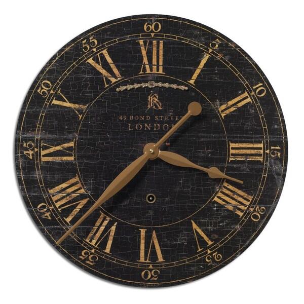 Uttermost Bond Street 18-inch Black Wall Clock