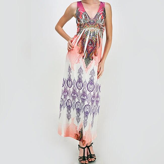 Tabeez Women's Lace Back Sublime Maxi Dress