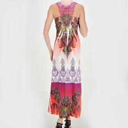 Tabeez Women's Lace Back Sublime Maxi Dress