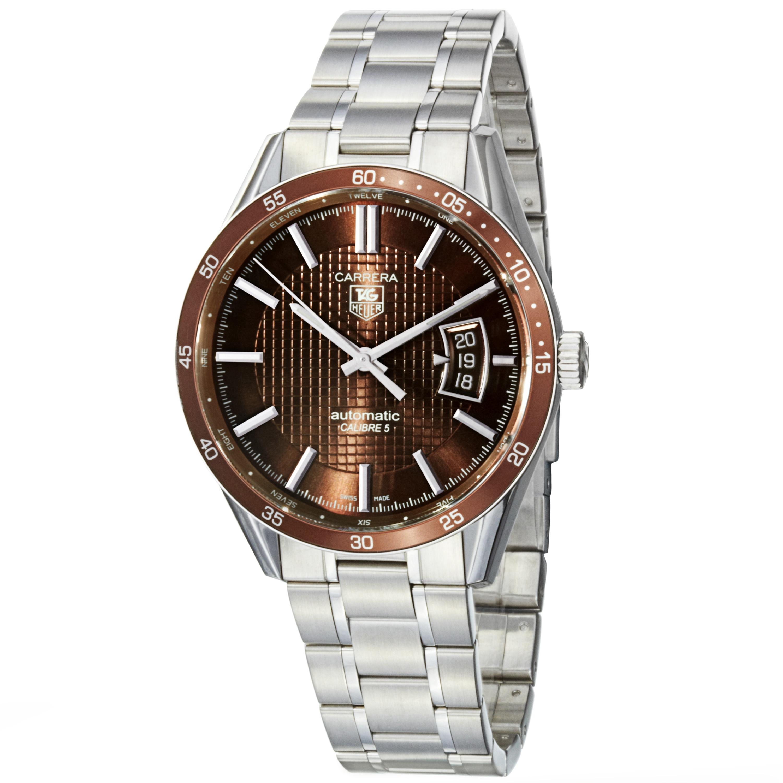 Tag Heuer Men's 'Carrera' Brown Dial Stainless Steel Watch