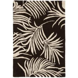 Handmade Soho Fern Brown New Zealand Wool Rug (2' x 3')