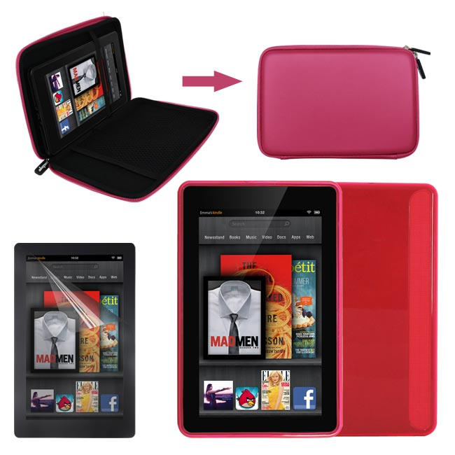 Deluxe  Kindle Fire EVA Case/ TPU Case/ Screen Protector