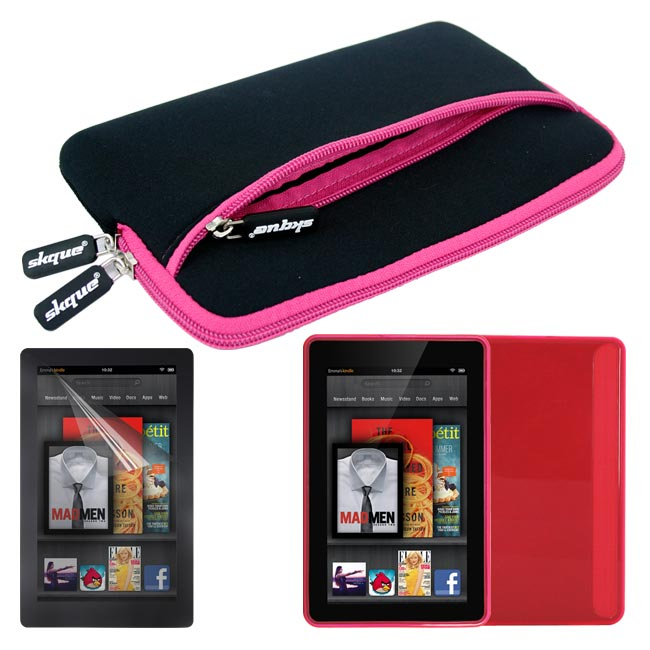 Deluxe  Kindle Fire Glove Case/ TPU Case/ Screen Protector