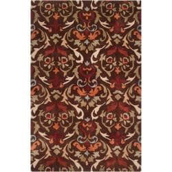 Hand-tufted Brown Mayall Polyester Rug (3'6 x 5'6)
