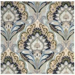 Safavieh Handmade Chatham Motif Blue New Zealand Wool Rug (7' Square)