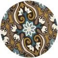 Handmade Chatham Enchant Blue New Zealand Wool Rug (7' Round)