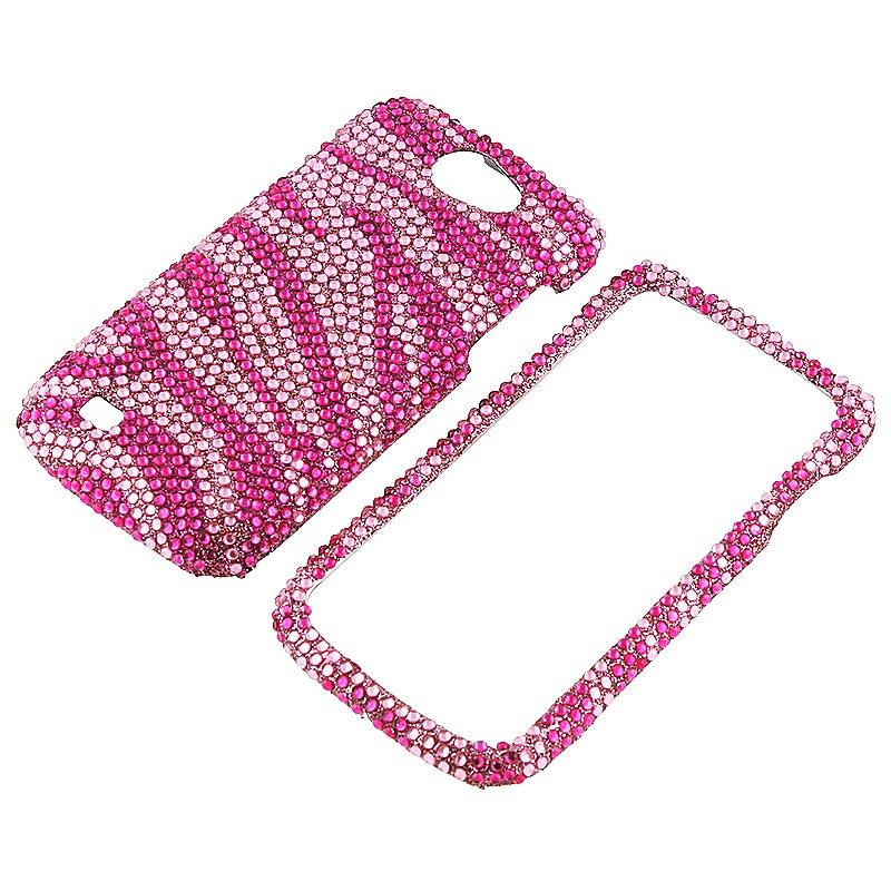 Hot Pink Zebra Diamond Case for Samsung Exhibit 2 4G T679