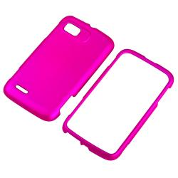 Hot Pink Snap-on Rubber Coated Case for Motorola Atrix 2 MB865