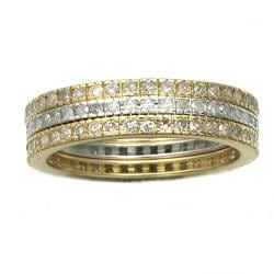 Beverly Hills Charm 10K Two-Tone Gold 1Ct TDW Diamond Eternity Band Set (H-I, I2-I3)