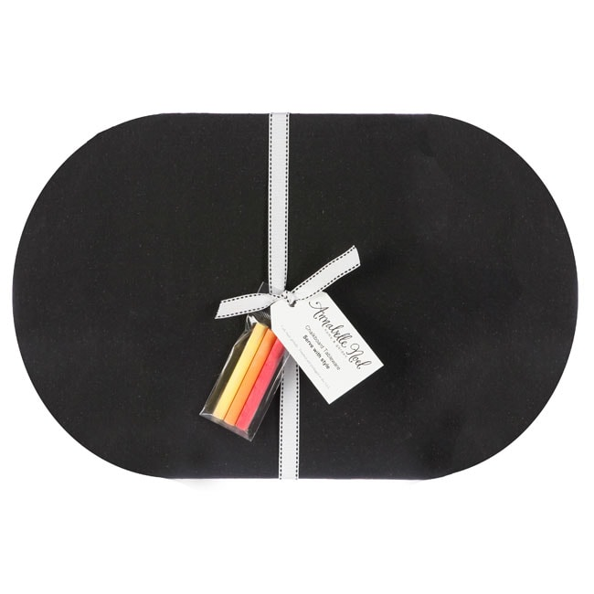 Chalkboard Large Oval Placemats (Set of 4)