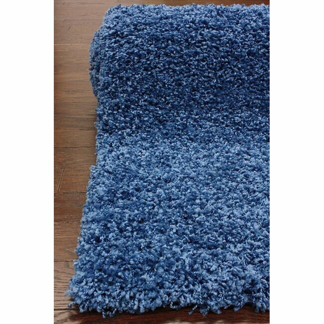 Ultra Blue Shag Rug (5' x 8')