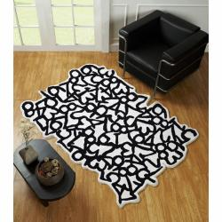 nuLOOM Handmade Kids Carved Numbers Wool Rug (5' x 7')