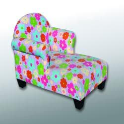 Addison Children's Flowered Two-arm Chaise Lounge Chair