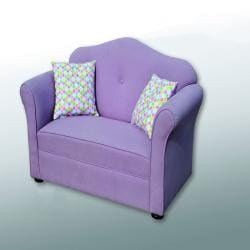 Chantel Kids Purple Sofa and Pillow Set