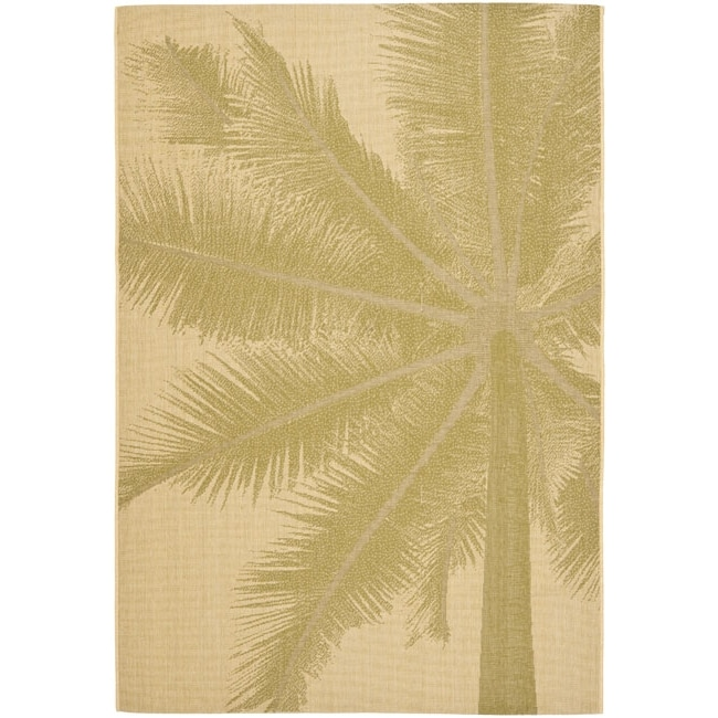 Safavieh Key West Palm Natural Indoor Outdoor Rug (5'3 x 7'7)