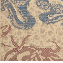 Key West Catch Natural Indoor Outdoor Rug (5'3 x 7'7)