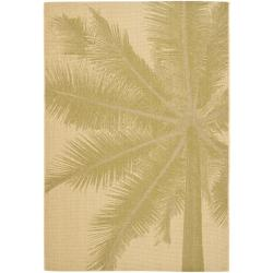 Key West Palm Natural Indoor Outdoor Rug (5'3 x 7'7)