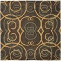 Handmade Rodeo Drive Iron Gate Brown Wool Rug (6' Square)