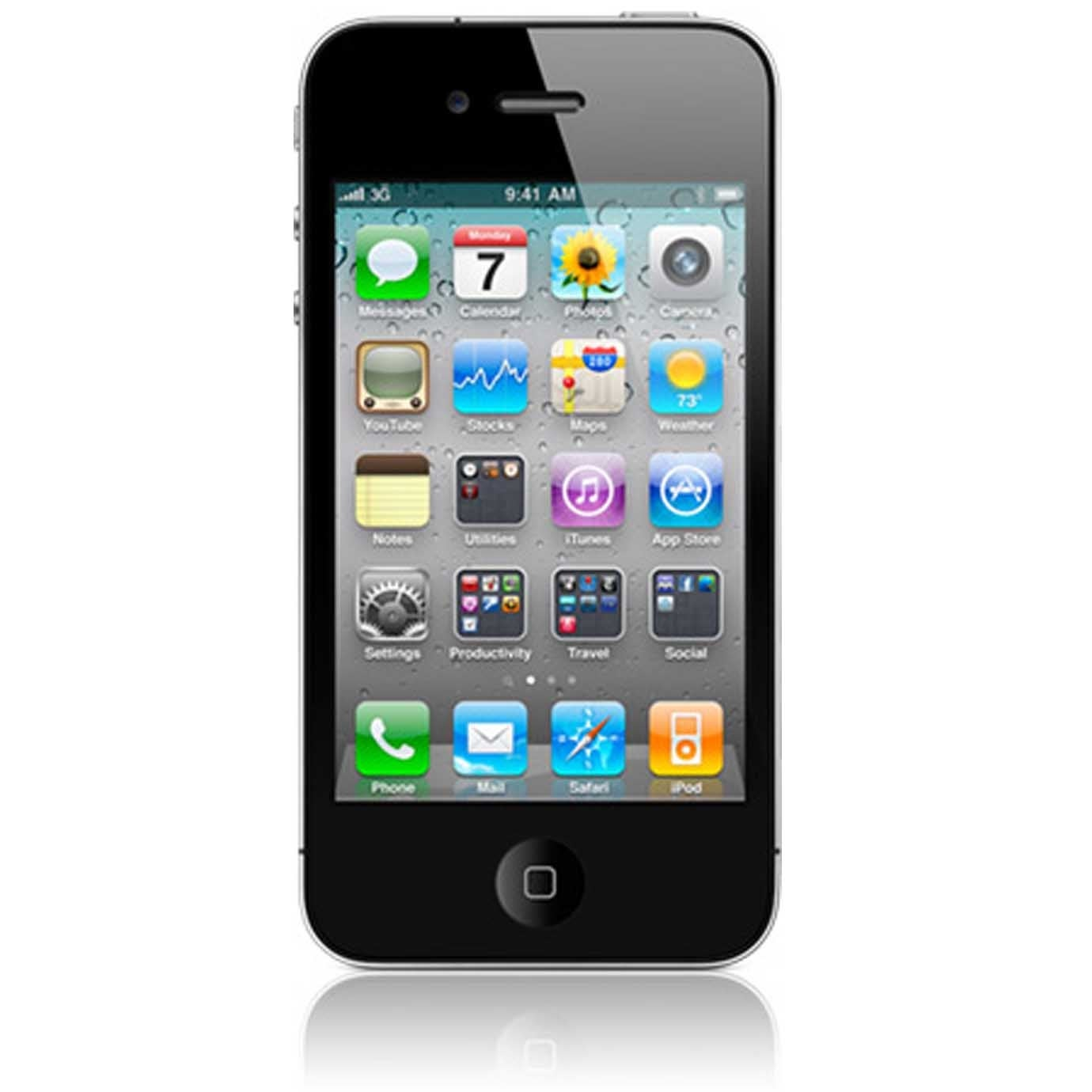 Apple iPhone 4 16GB AT&T Black Cell Phone (Refurbished)