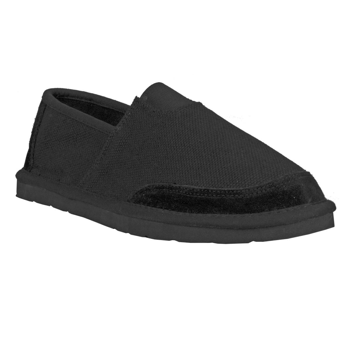 Lugz Men's 'Root' Canvas Suede Black Slip-on Shoes