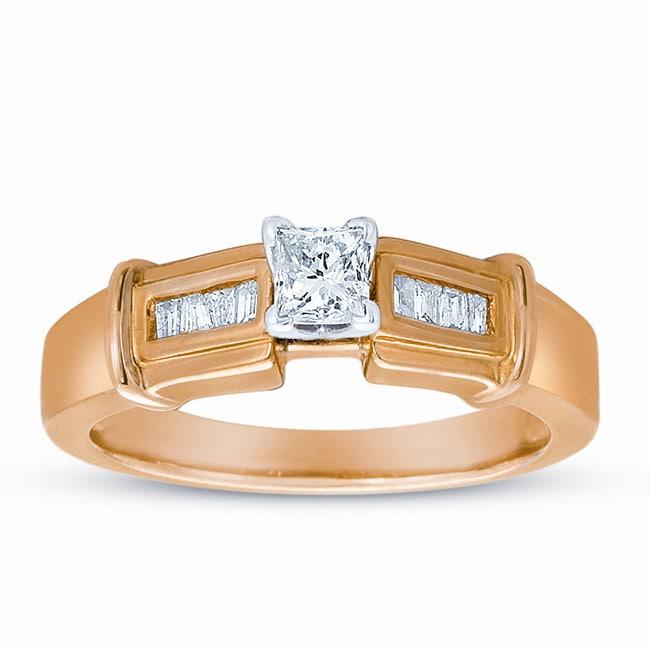 14k Yellow Gold 3/8ct TDW Diamond Ring (H-I, I1-I2)