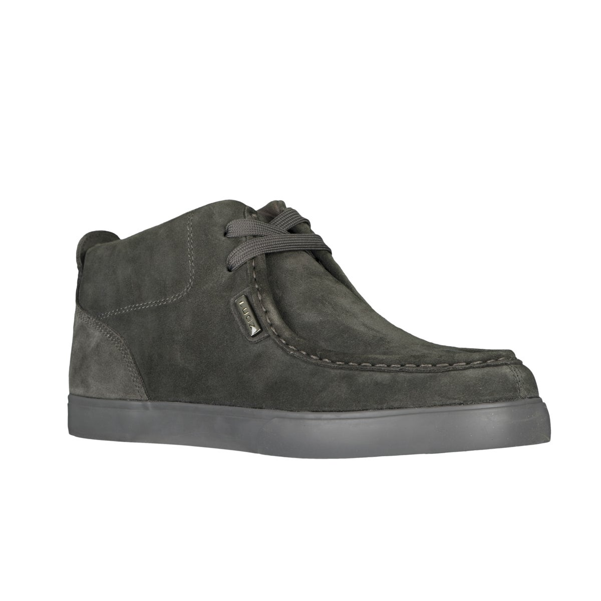Lugz Men's 'Strider' Suede Charcoal Sneakers