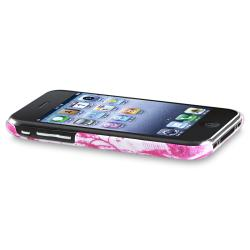 White/ Pink with Buttefly Snap-on Case for Apple iPhone 3G/ 3GS