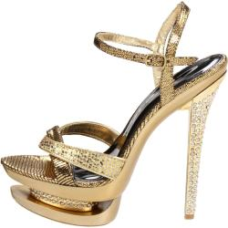 Celeste Women's 'Rosie-02' Gold Stiletto Sandals