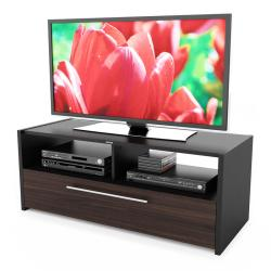 Sonax Naples 48-inch Black and Ebony Pecan TV Bench