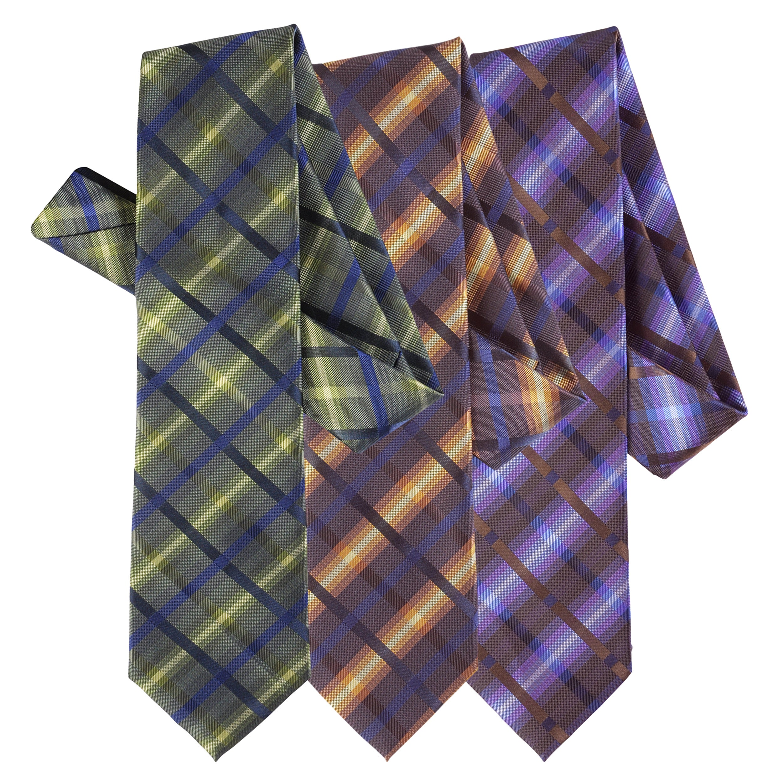 Boston Traveler Men's Plaid Microfiber Tie and Hanky Set