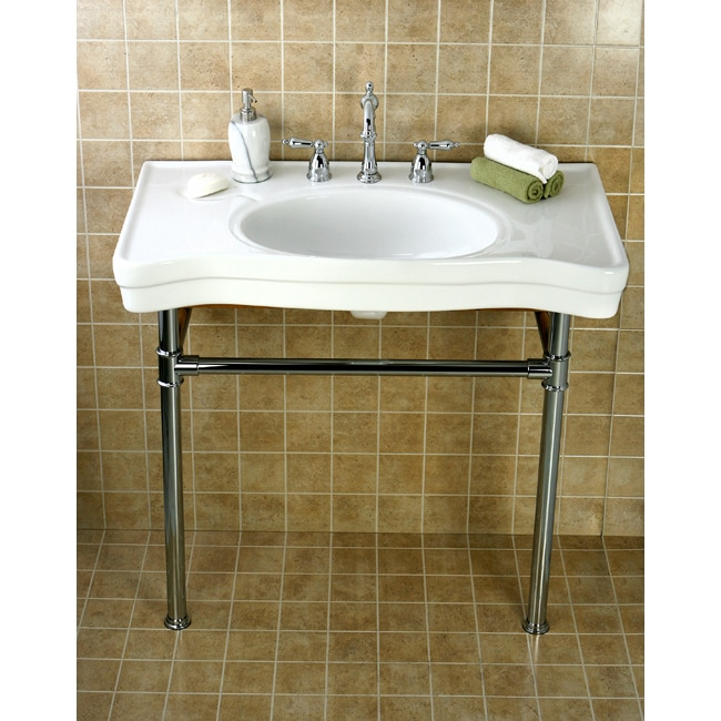 Vintage Wall Sink : Imperial Vintage Wall mount Chrome Pedestal Bathroom Sink