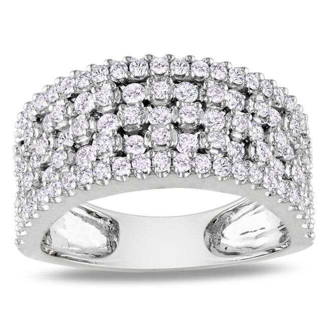 Miadora 14k White Gold 1 1/3ct TDW Diamond Fashion Ring (H-I, SI1-SI2)