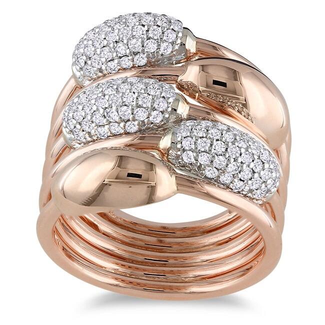 Miadora 14k Two-tone Gold 3/4ct TDW Diamond Ring (H-I, SI1-SI2)