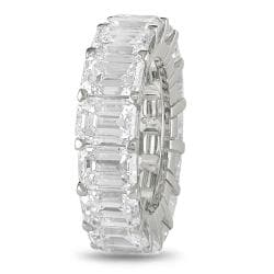 Miadora 18k White Gold 10 3/4ct TDW Emerald-cut Diamond Ring (D-E, VVS1-VVS2)
