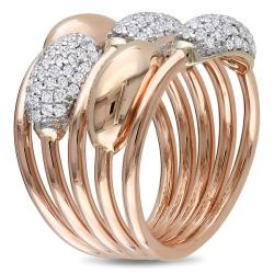 Miadora 14k Two-tone Gold 3/4ct TDW Diamond  Ring (H-I, SI1-SI2)