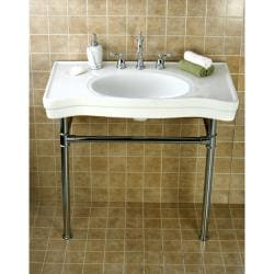 Imperial Vintage Wall-mount Chrome Pedestal Bathroom Sink
