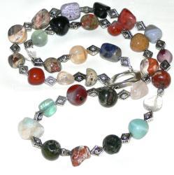 Susen Foster Silverplated Kaleidoscope Necklace