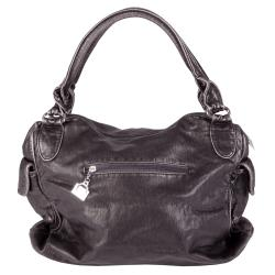 Journee Collection Women's Slouchy Metal Detail Double Handle Satchel
