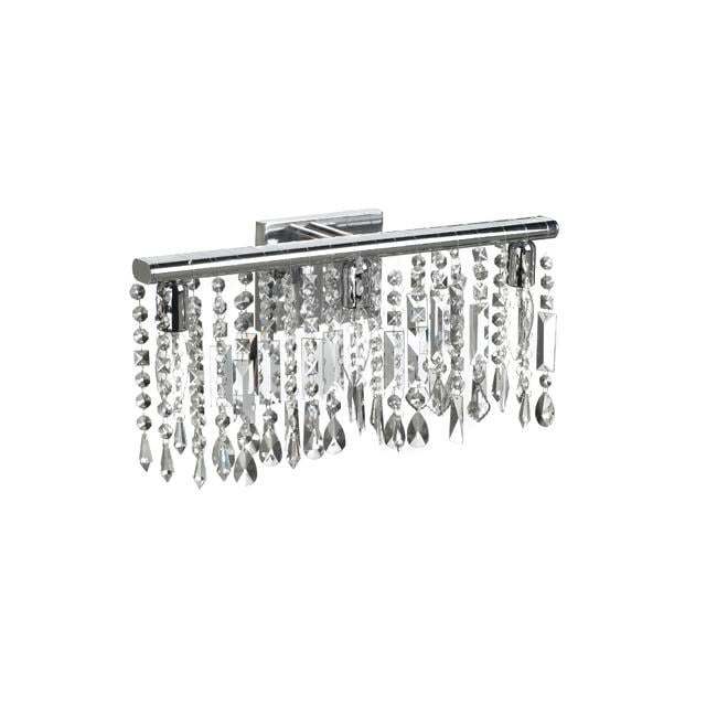 chrome crystal 3 light wall sconce bathroom vanity fixture 14123171