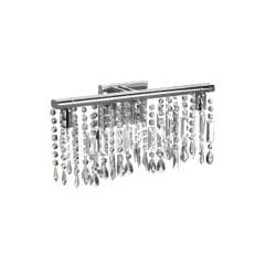 Chrome Crystal 3-light Wall Sconce Bathroom Vanity Fixture