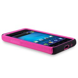 Hot Pink/ Black Hybrid Case for Samsung Galaxy S II AT&T i777 Attain