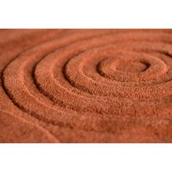 Hand-crafted Orange Geometric Claustro Wool Rug (3'3 x 5'3)