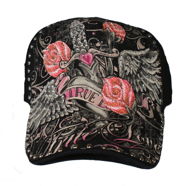 Katwalk Divaz 'True Love' Rhinestone Trucker Hat