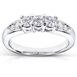 14k White Gold 3/8ct TDW Diamond Wedding Band