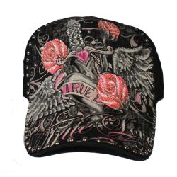 Katwalk Divaz 'True Love' Rhinestone Trucker Hat